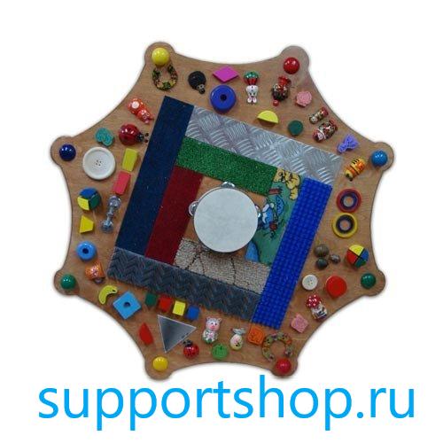 Тактильный диск с декоративными элементами