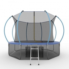 Батут с внутренней сеткой и лестницей EVO JUMP Internal 12ft (Blue) + Lower net