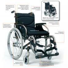 Кресло-коляска механическая инвалидная под одну руку Vermeiren V300 НЕМ2