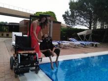 Подъёмное устройство для инвалидов на электроколяску