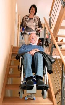 Ступенькоход с брэкетами s-max D160 для Индивидуальной установки на инвалидную коляску