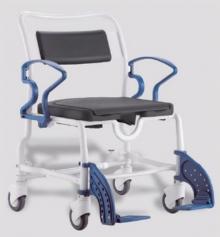 Кресло-стул с санитарным оснащением Атланта серый-синий