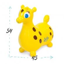 Прыгун резиновый жираф GYFFY, желтый
