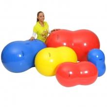 Мяч медицинский физиоролл, диам. 85 см, длина 130 см, красный