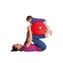Мяч медицинский физиоролл, диам. 40 см, длина 65 см, красный