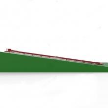 Горка с роликовым скатом
