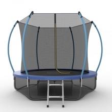 Батут с внутренней сеткой и лестницей EVO JUMP Internal 8ft (Blue) + Lower net