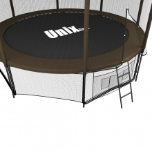 Батут UNIX line Black&Brown 12 ft (outside)