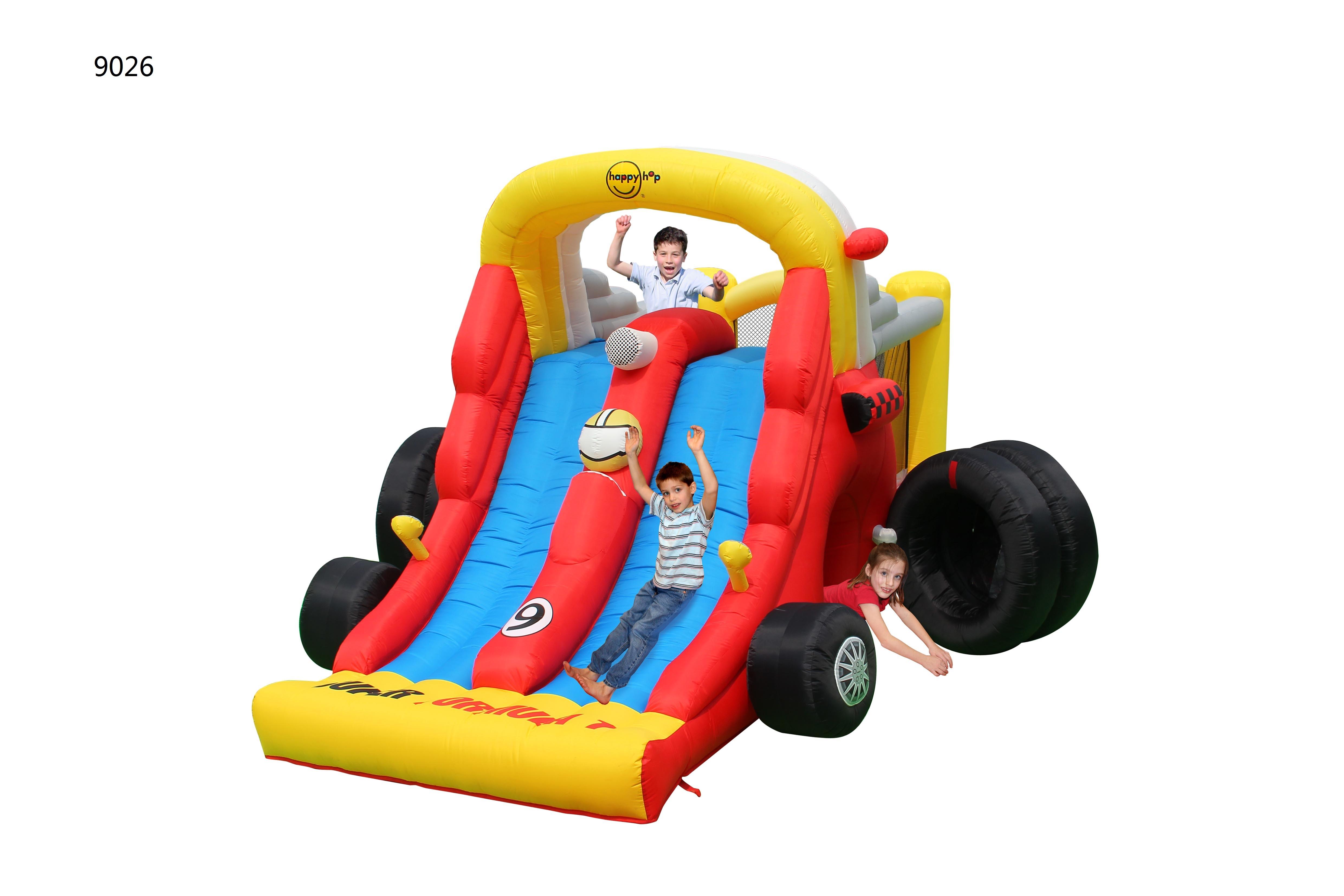 Детский надувной Батут HAPPY HOP «Формула 1» 9026 с пятнами