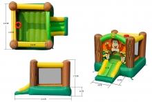Детский надувной Батут с горкой «Дружба» HAPPY HOP 9201G