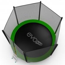 Батут с внутренней сеткой и лестницей EVO JUMP External 10ft (Green) + Lower net