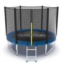 Батут с внутренней сеткой и лестницей EVO JUMP External 8ft (Blue)