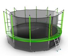 Батут с внутренней сеткой и лестницей EVO JUMP Internal 16ft (Green) + Lower net