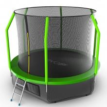 Батут с внутренней сеткой и лестницей EVO JUMP Cosmo 10ft (Green) + Lower net