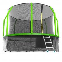 Батут с внутренней сеткой и лестницей EVO JUMP Cosmo 12ft (Green) + Lower net