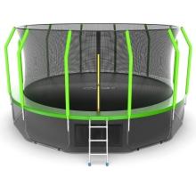 Батут с внутренней сеткой и лестницей EVO JUMP Cosmo 16ft (Green) + Lower net