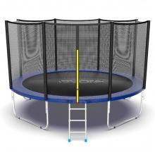 Батут с внутренней сеткой и лестницей EVO JUMP External 12ft (Blue)