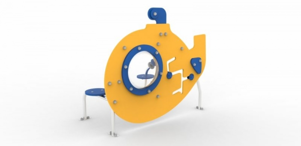 Игровой элемент Желтая подлодка для развития тактильных навыков