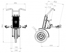 "Электроприставка для инвалидной коляски UNAwheel Maxi 12"""