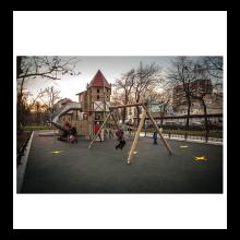 Детский игровой комплекс Замок с горкой