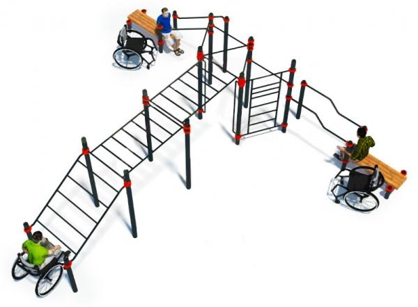 Комплекс для инвалидов-колясочников ADVANCED SUPER W-7.01