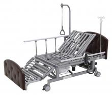 Кровать электрическая Med-Mos DB-11А (МЕ-5228Н-00) темный премиум с боковым переворачиванием, туалетным устройством и функцией «кардиокресло»