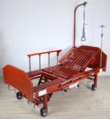 Кровать механическая с боковым переворачиванием, туалетным устройством и функцией «кардиокресло» Med-Mos YG-5 (ММ-5124Н-00)