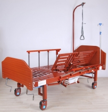Кровать механическая с боковым переворачиванием, туалетным устройством и функцией «кардиокресло» Med-Mos YG-5 (ММ-5124Н-01)