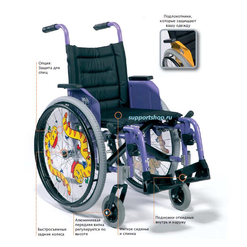 Активная инвалидная кресло-коляска Vermeiren Eclips X4 Kids