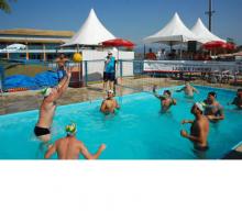 Волейбольные стойки для бассейна