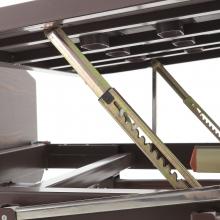 Кровать механическая Мед-Мос Е-8 (MM-2024Н-02) (2 функции) ЛДСП с полкой и обеденным столиком