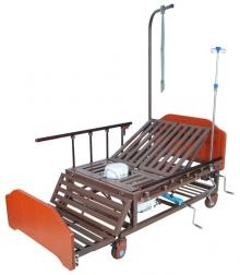 Кровать механическая с боковым переворачиванием, туалетным устройством и функцией «кардиокресло» Med-Mos Е-45А (ММ-152ПН)