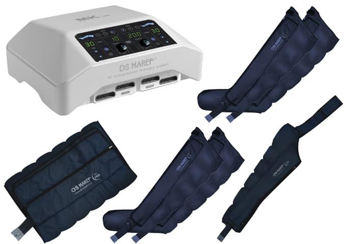 Аппарат для лимфодренажа Mark 300 + 4 манжеты для ног + пояс для похудения + манжета на руку