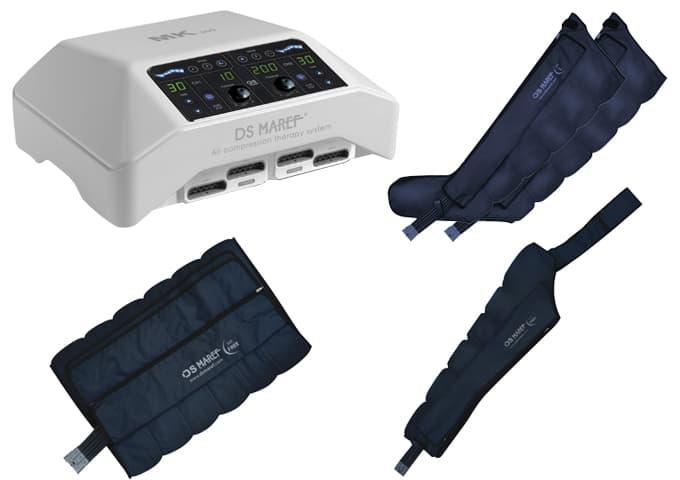 Аппарат для прессотерапии MK 300 + манжеты для ног + пояс для похудения + манжета на руку