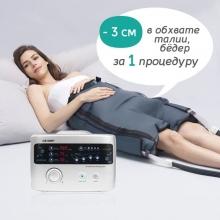 Аппарат для прессотерапии Premium Medical LX9 (Lympha-sys9), манжеты для ног (XL), шорты для похудения, манжета для руки, расширители, соединители, сумка