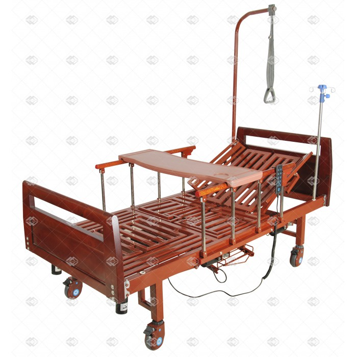 Медицинская кровать с электроприводом MM-92 с туалетным устройством